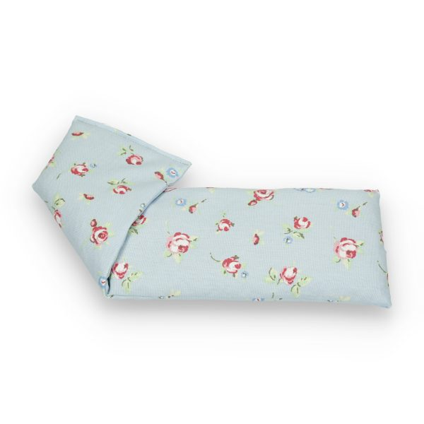 Pink Roses on Pale Blue Lavender Wheat Bag