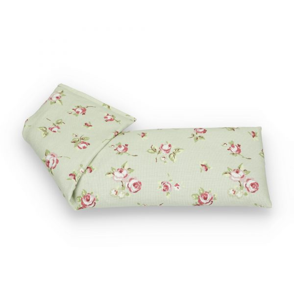 Pink Roses on Pale Green Lavender Wheat Bag