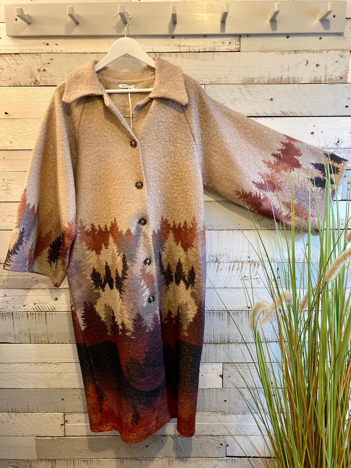 Taupe Woodland Coat 2