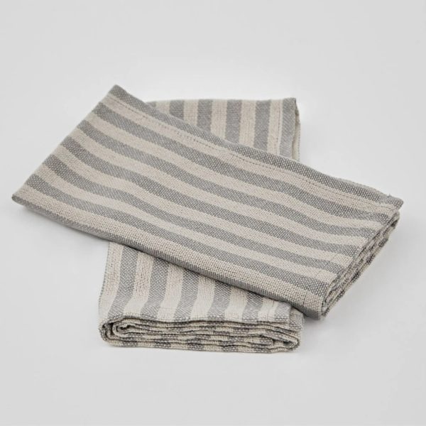 Toulouse Grey & Linen Napkins