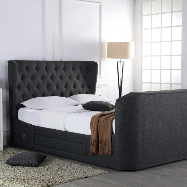 Avebury TV Fabric Ottoman Bed