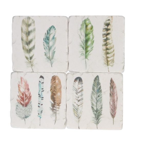 Feather Set of 4 Coasters