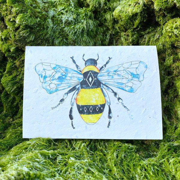 Geometric Bee Plantable Card