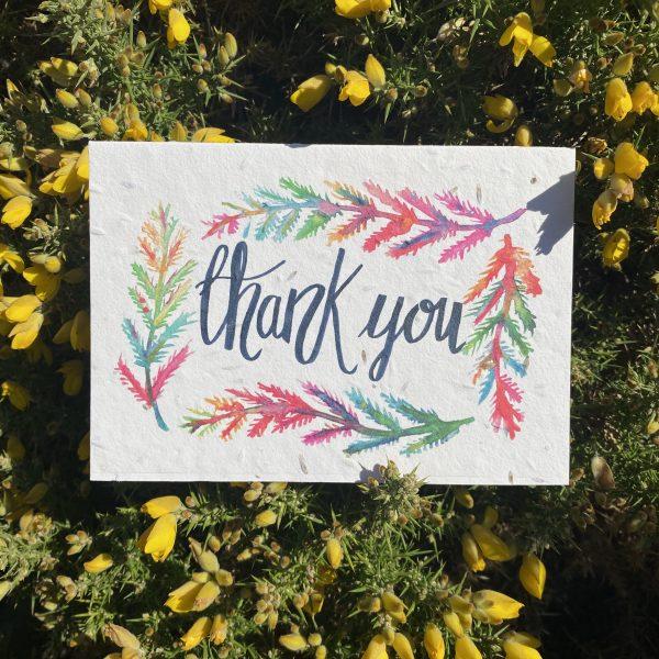 Thank You Plantable Card