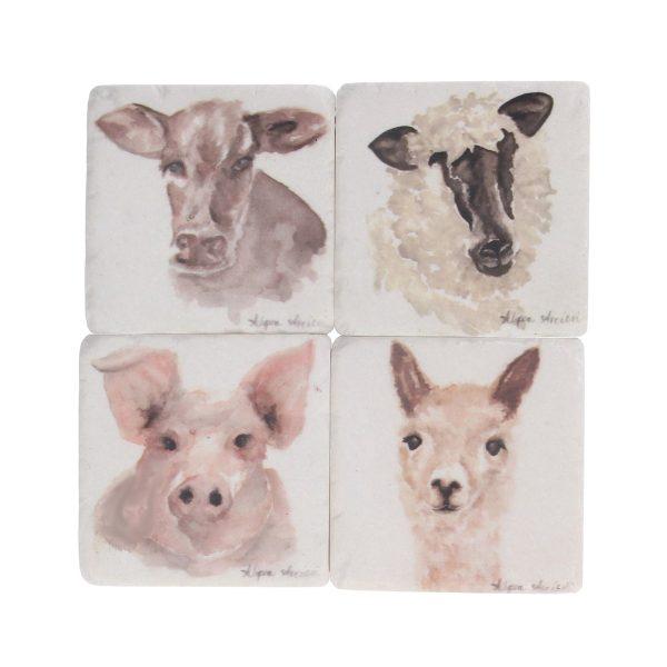 Watercolour Animals Set of 4 Coasters