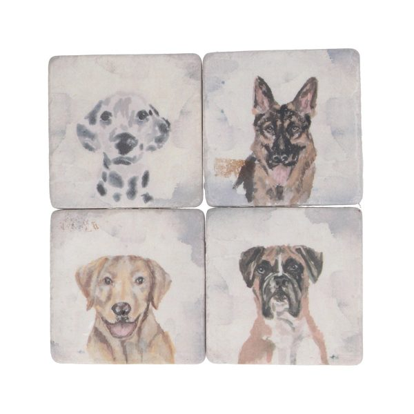 Watercolour Dogs Set of 4 Coasters