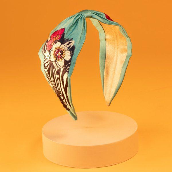 Embroidered Zebra Floral Headband