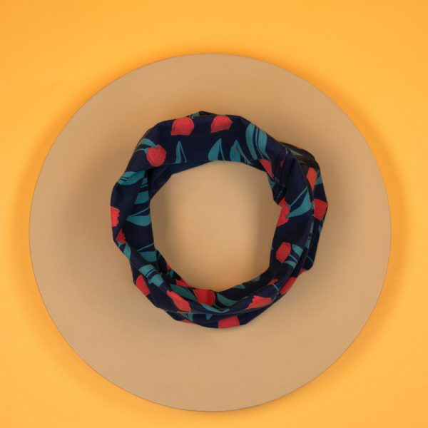 Navy Tulip Multiway Band