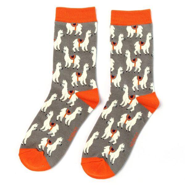 Grey Llama Socks