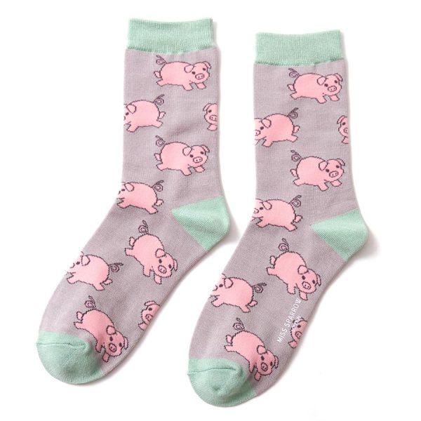 Grey Piglet Socks