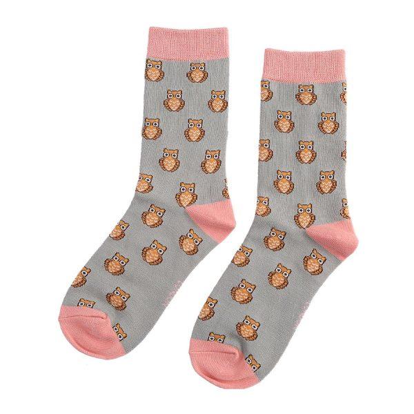 Silver Owls Socks