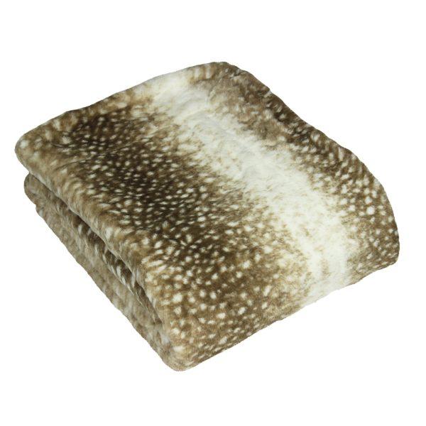 Fawn Faux Fur Throw