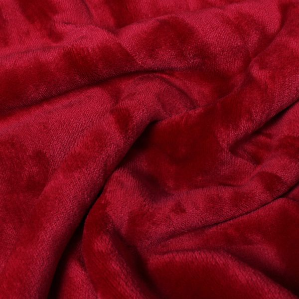 Lux Sherpa Red Throw