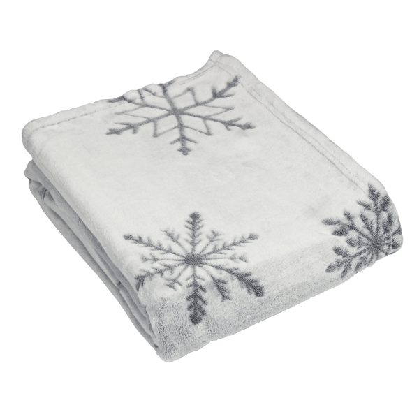 Silver Snowflake Throw